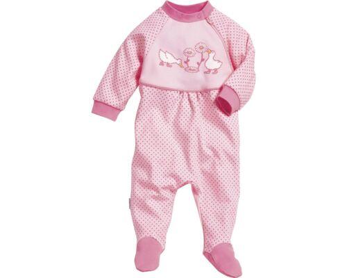 56 62 68 74 80 86 Fuß Gänse Gr neu Playshoes Baby Overall Pyjama Stampler m