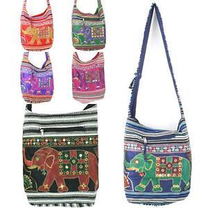 Sling-Bag-Elephant-Messenger-Crossbody-Cross-Body-Handbag-Backpack-Hippie-Hobo