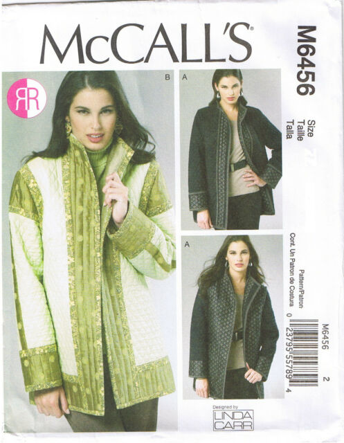 Reversible Lined Jackets Linda Carr McCalls Sewing Pattern XS S M 4 6 8 10 12 14