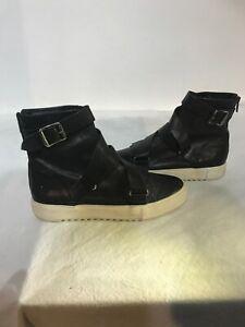Frye-Ladies-Black-Zip-Leather-Ankle-Boots-Uk-6-6-5-M-Ref-Fe01