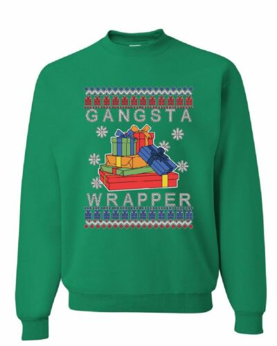 Gangsta Wrapper Ugly Sweater Sweatshirt Merry Jolly Christmas Xmas Sweater