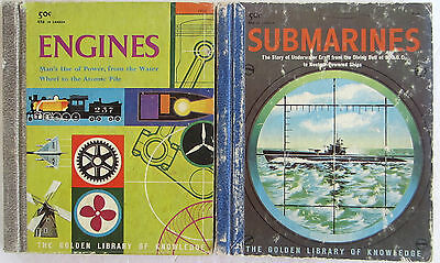 Little Golden Book Library of Knowledge Lot Engines Submarines Quiz Fun Bonus