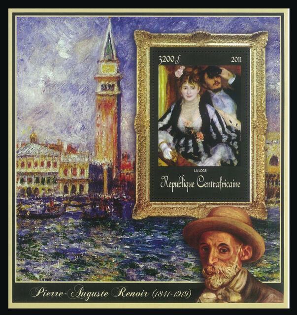 CAR 2011 Stamp, CA11421F Special Block of Paintings of Pierre-Auguste Renoir,