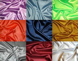 Satinstoff-10-m-30cm-Karneval-Fasching-versch-Farben-1-3-m-breit-unifarben