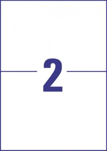 20 Blatt A4 40 Universal Etiketten 210 x 148 mm für Inkjet+Laser+Kopierer NN