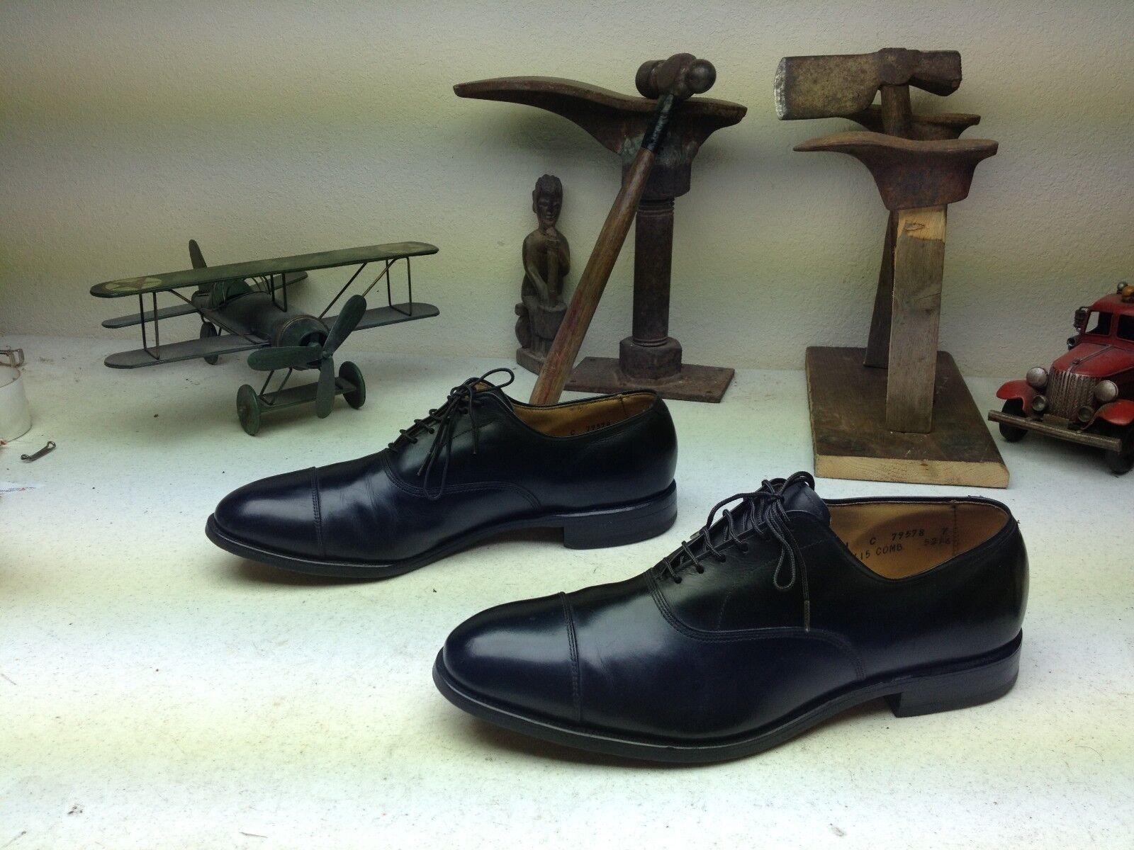 Hecho En Usa Allen Edmonds Park Avenue De Cuero Negro Empresarial Zapatos C