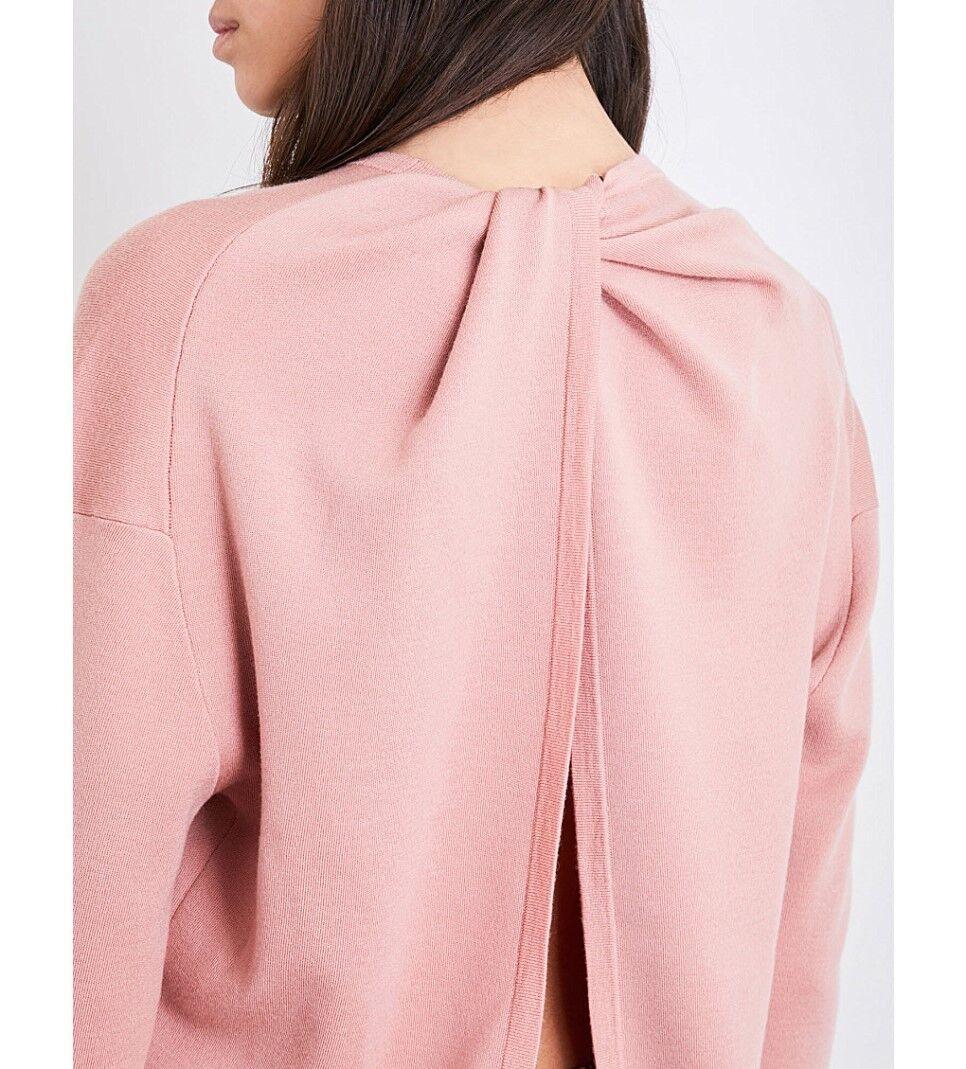 NWT Theory Twylina B Merino Wool Sweater Sweater Sweater Dark Gardenia(Pink) Size P(XS),S,M  365 52b0f3