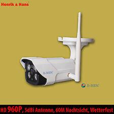 HD 960P WLAN IP Kamera Wetterfest Funk Netzwerk Überwachungskamera Außen Camera