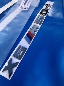 Logo Original BMW X6 Trunk X6 M50d M 50D Chrome Badge 51148059012 F16 G09