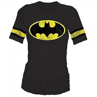 2 Piece Gift Set Batman Logo Junior Womens Raglan Shirt /& Bag