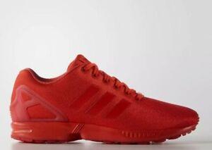 Adidas Originals Hommes Zx flux torsion Baskets Rouge UK 8/8.5/9/11.5 Entièrement neuf dans sa boîte.