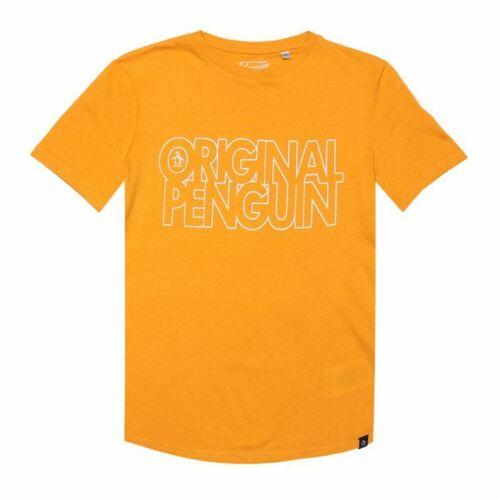 Boy/'s Original Penguin Junior  T-Shirt in Orange
