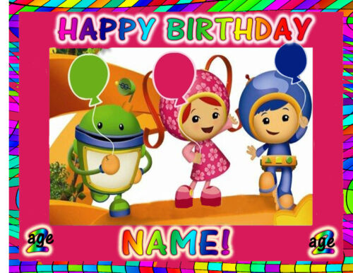 Team Umizoomi Birthday cake topper Edible picture image FROSTING SHEET paper