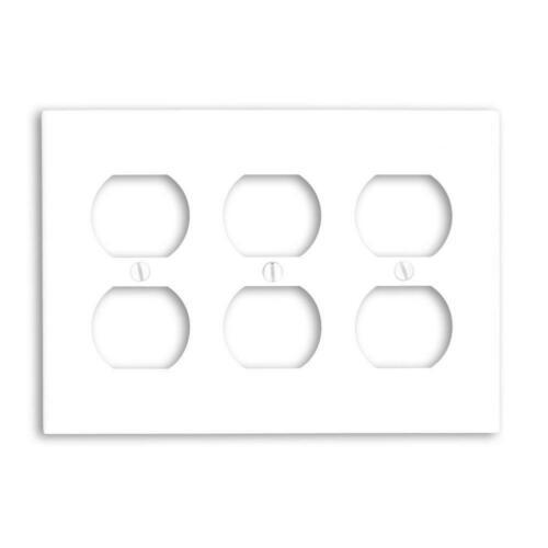 Leviton 88030 3-Gang Duplex Appareil Réceptacle plaque murale taille standard blanc