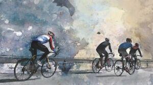 PLAQUE MÉTAL    cyclisme course de vélo   30 X 20 CM