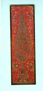 TURNOWSKY-039-S-Art-Bookmark-Red-19th-Tree-of-Life-Oriental-Wall-Hanging-Fabric-Card