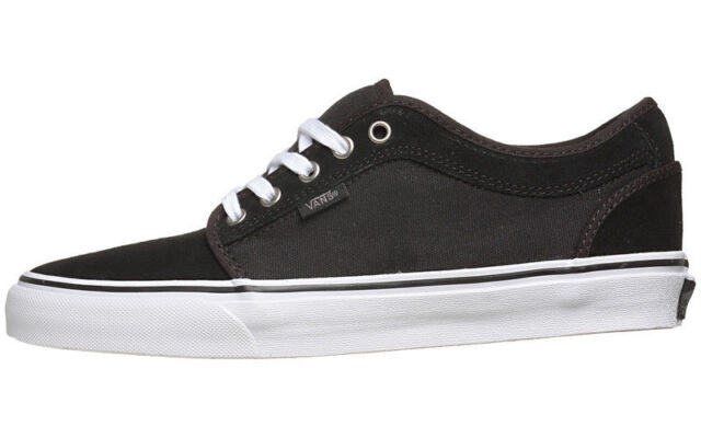 33b2783b6a Vans CHUKKA LOW Black Pewter White Casual Skate VN-0NKABH4 (411) Men s Shoes