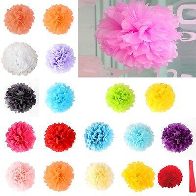 "Tissue Paper Pom-Poms 10"" Flower Wedding Party Home Outdoor Decor"
