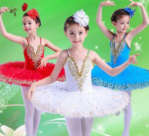 40f53170e432 Children Swan Lake Costume Kid Ballet Dancewear Stage Pro Adult Tutu ...