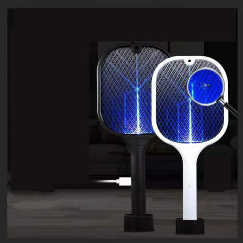USB Charging Electric Mosquito Swatter 3Layer Mute Mosquitoes Lamp Racket Killer