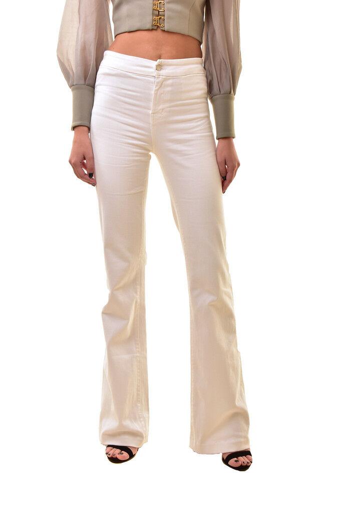 Marca da Donna Su Misura J Flare 2387C028 Jeans Relaxed bianca Taglia 30
