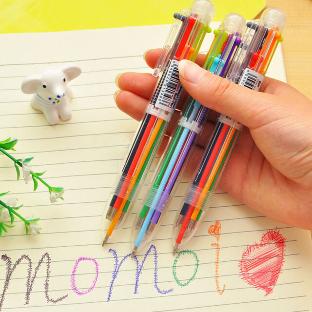 Stationery Multi-Colored Ballpoint Pen Six-color Ballpoint Pen Study Pens MDWA