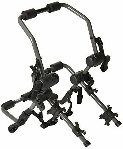 Fully Adjustable Tcorrerek Mounted Dual bicicletta Rack w Six Safety Attachuominit Straps