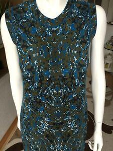 MISSONI-M-vintage-wool-dress-UK10-Designer-dress-sleeveless-multicolored