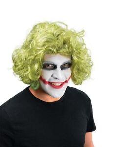 Mad-Man-Bat-Villain-Wig-amp-Face-Paint-Fancy-Dress-Joker-Jester-Green-Hair-UK