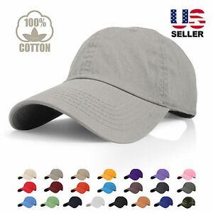 polo style curved bill washed cotton plain baseball cap