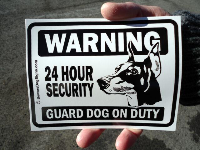 2 Guard Dog Window Door Stickers Beware Of Dog Signs Ebay