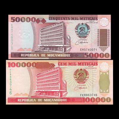 Mozambique P138 Bank Bldg // Cahara dam 50,000 Meticais UNC see UV $8 Cat Val