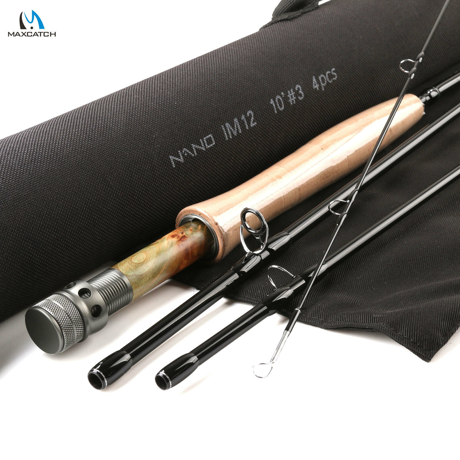 Nymph Fly Fishing Rod 10FT -wt -4Pcs NANO IM12 Graphite Carbon Fast 88g Only