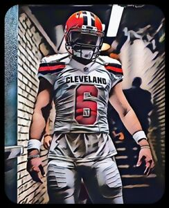 premium selection 1409b ac2d4 Details about Baker Mayfield MAGNET Comic book style Cleveland Browns  Custom Vinyl NFL