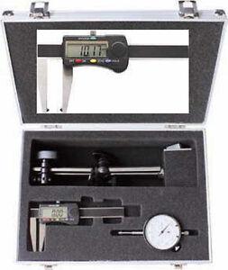 Magnet-Messstativ-Messuhr-und-DIGITAL-Bremsscheibenmessschieber-im-Alukoffer-NEU