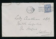 GB 1925 WEMBLEY EXHIBITION TORCHLIGHT TATTOO POSTMARK on 2 1/2d to HOLLAND