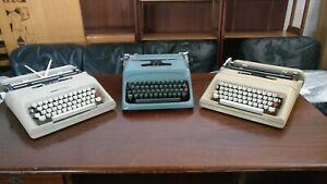 Lotto-3-Macchine-Da-Scrivere-Olivetti-Lettera-32-Studio-44-Da-revisionare-refSW
