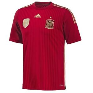 G85279 Match 2939 Jersey Chemise Home T 2014 Fef shirt Adidas Concours Espagne SFqSPgZ