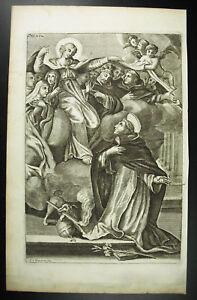 F-T-Montcornet-Gravur-Religioese-18-Jhd-c1750-die-Heilige-Jungfrau-Maria-Nach