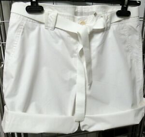 Part-Two-white-cotton-shorts-with-belt-NEW