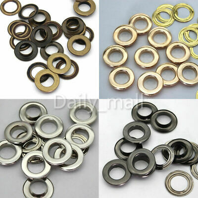 Lots Eyelet with Washer Bag clothing Repair Grommet 3.5//4//5//6//8//10//12//14//17//20mm
