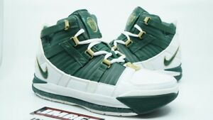 d3354315d95473 NIKE ZOOM LEBRON III 3 NEW SIZE 7 SVSM WHITE DEEP FOREST GOLD DUST ...