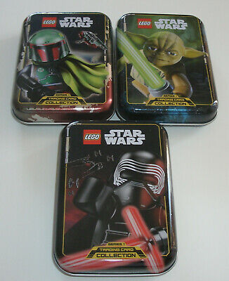 Hilfreich Lego Star Wars Serie 1 Trading Card Game Alle 3 Mini Tin Boxen Leer Warm Und Winddicht Star Wars Trading Cards Trading Cards