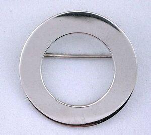 .925 Pure Sterling Round Round Vintage Danecraft Brooch Brooche Pin 4997