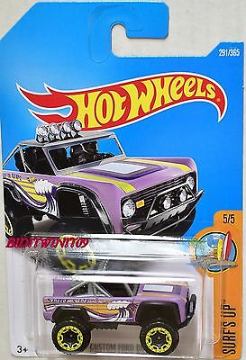 Hot Wheels Custom Ford Bronco Surfs Up Series #5//5 Purple Diecast 1:64 Scale New