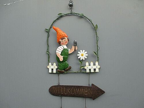Deko Metall Windspiel Dekohänger Garten Balkon Terrasse Tür