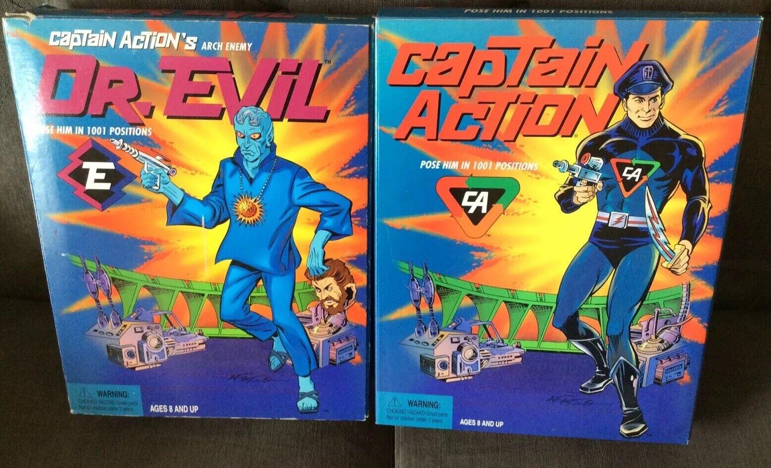PLAYING uomoTIS CAPTAIN azione & ARCH  ENEMY DR. EVIL LOT (2) BOTH MIB  edizione limitata a caldo