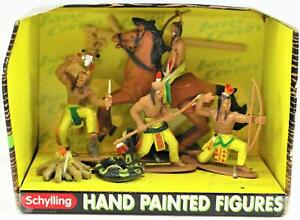 Schylling-Indian-amp-Cowboy-Hand-Painted-Figures-Toy-New-In-Box-Free-Shipping