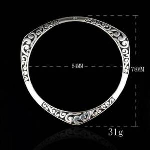 925-Sterling-Silver-Bangle-Bracelet-Charm-Ladies-Womens-Jewellery-Best-Love-Gift