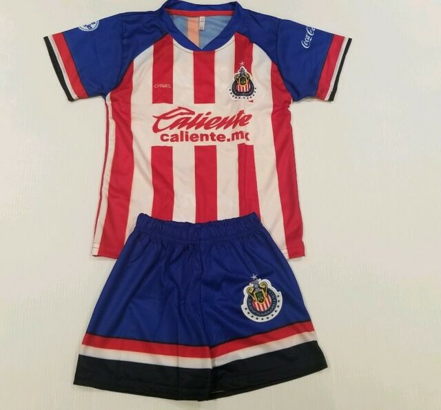 New Chivas De Guadalajara Kid/'s Home Soccer Jersey Futbol Mexico Jersey /& Short